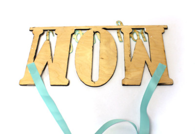 Mother's Day Collage Sign | Ribbon | CraftCuts.com