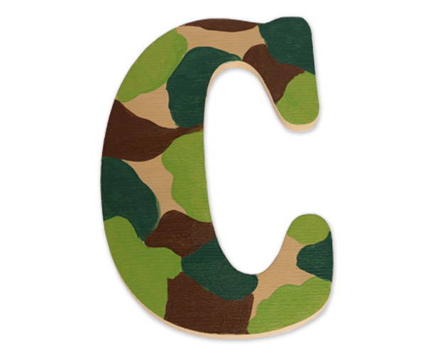 1ccd84a88da739 Camo Letters - How to Paint Custom Wood Letters | Craftcuts.com
