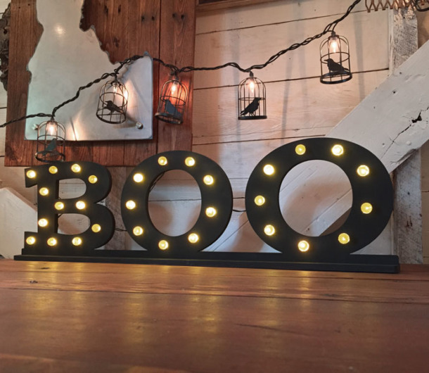 Lighted Boo Letters For Halloween Diy Halloween Decor Craftcutscom