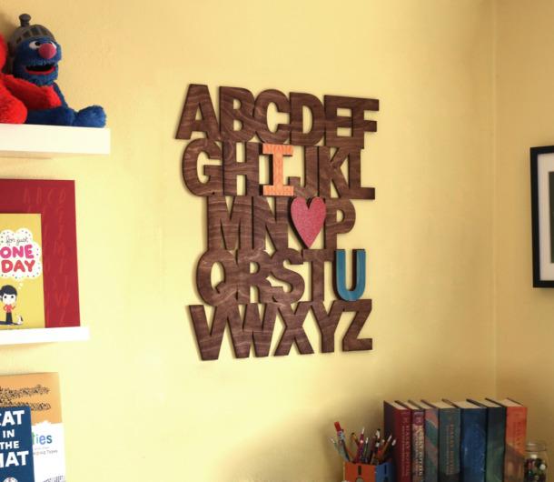 DIY I Love U Alphabet Wall Letters | Craftcuts.com