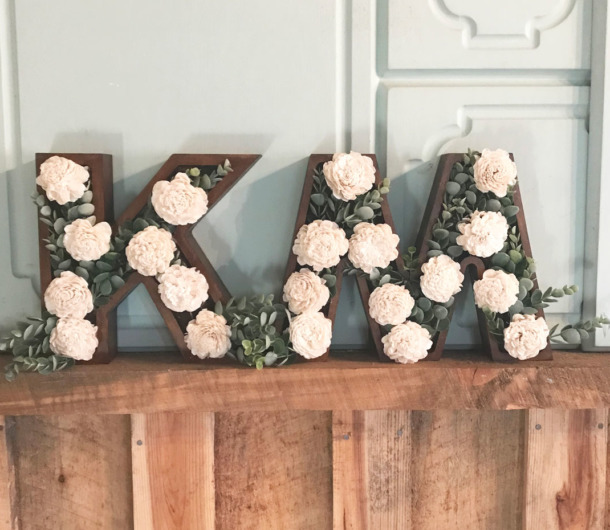 How To Make Diy Floral Letters With Shadowbox Letters