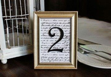 How to Make Framed Table Numbers | CraftCuts.com
