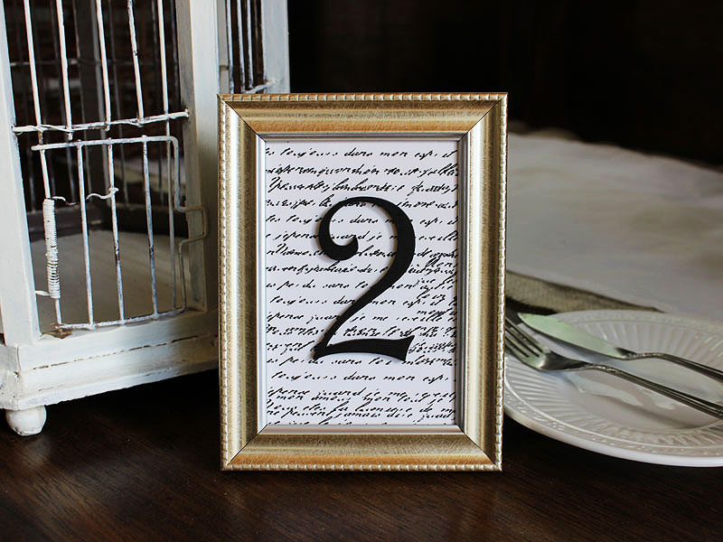 How To Make Framed Table Numbers