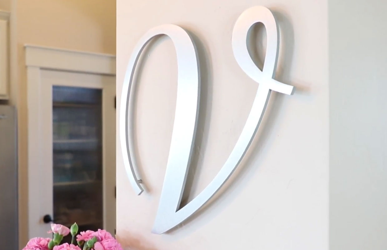 How To Hang Metal Letters Projected Wall Letter Craftcuts Com