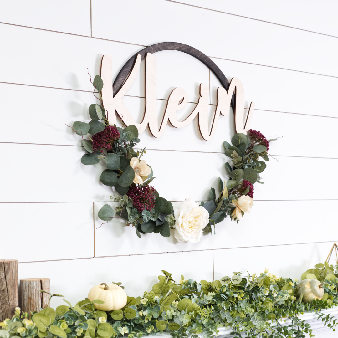 How To Make A Diy Stained Hoop Name Wreath Craftcuts Com