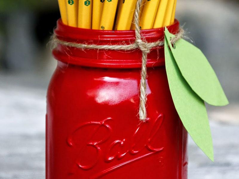 7 great back to school ideas for Mason jar holder ideas