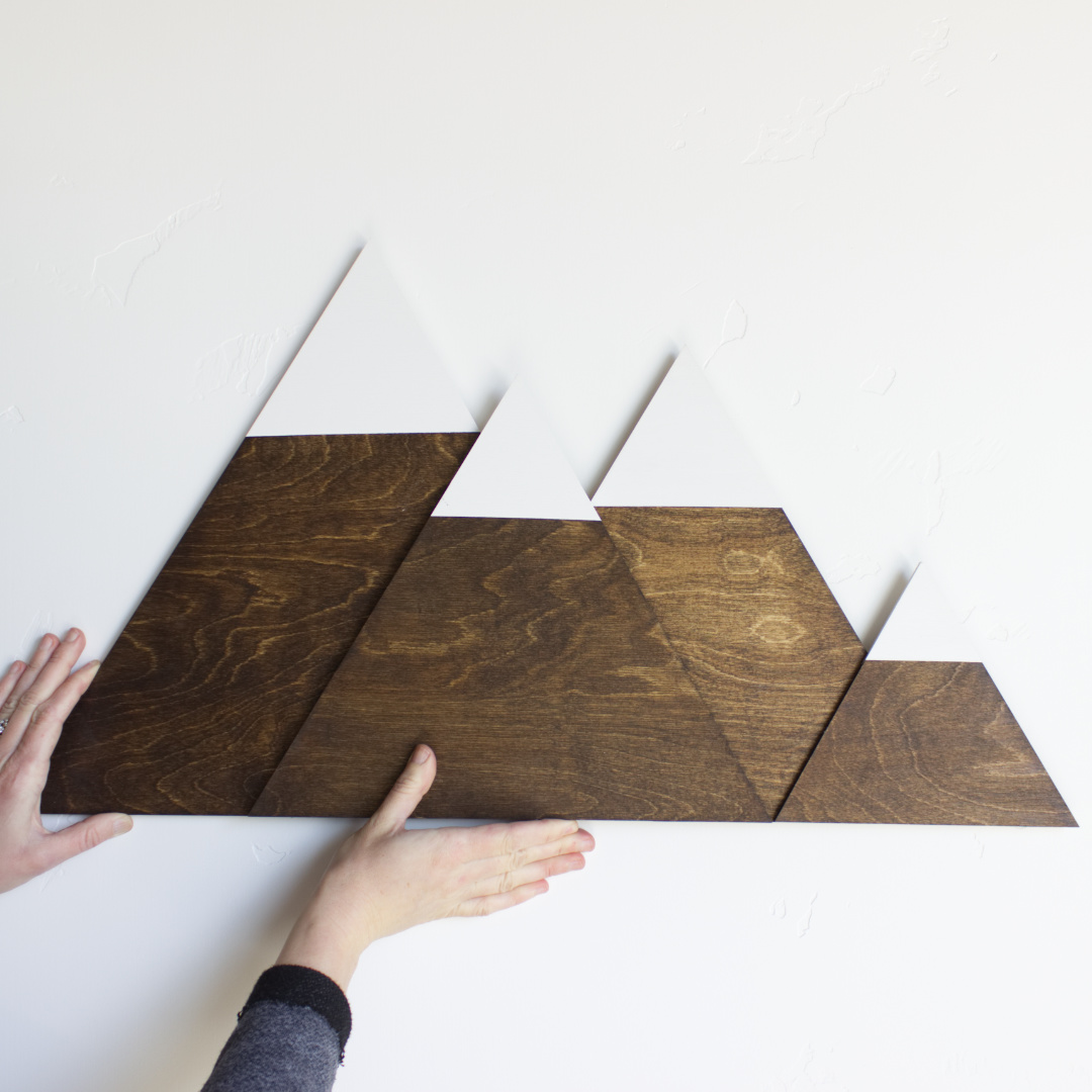 How to Make DIY Mountain Wall Art   CraftCuts.com