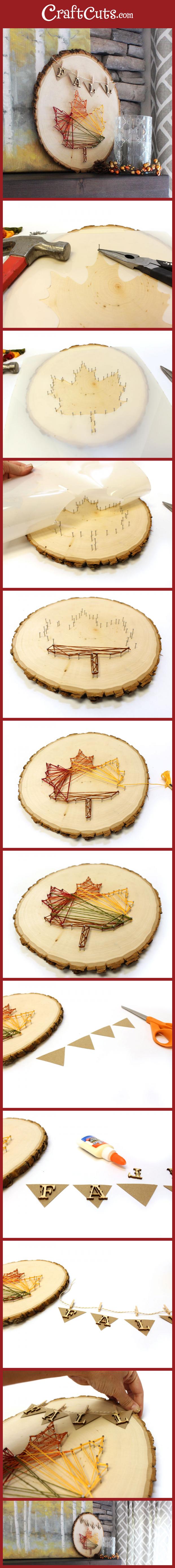 Fall Leaf String Art