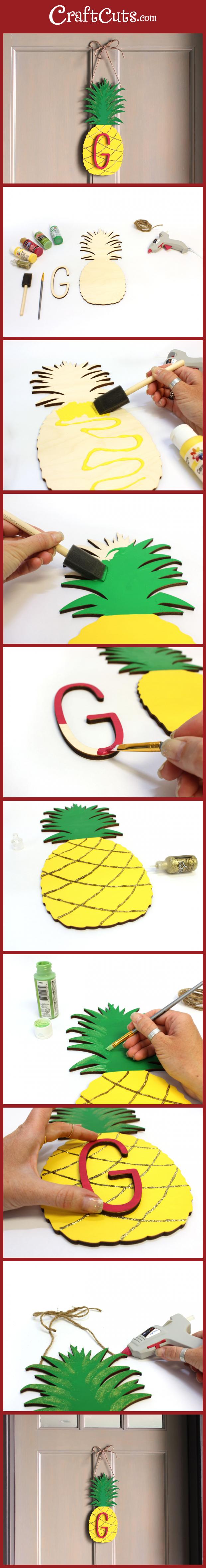 Pineapple Monogram Wreath - Craftcuts.com