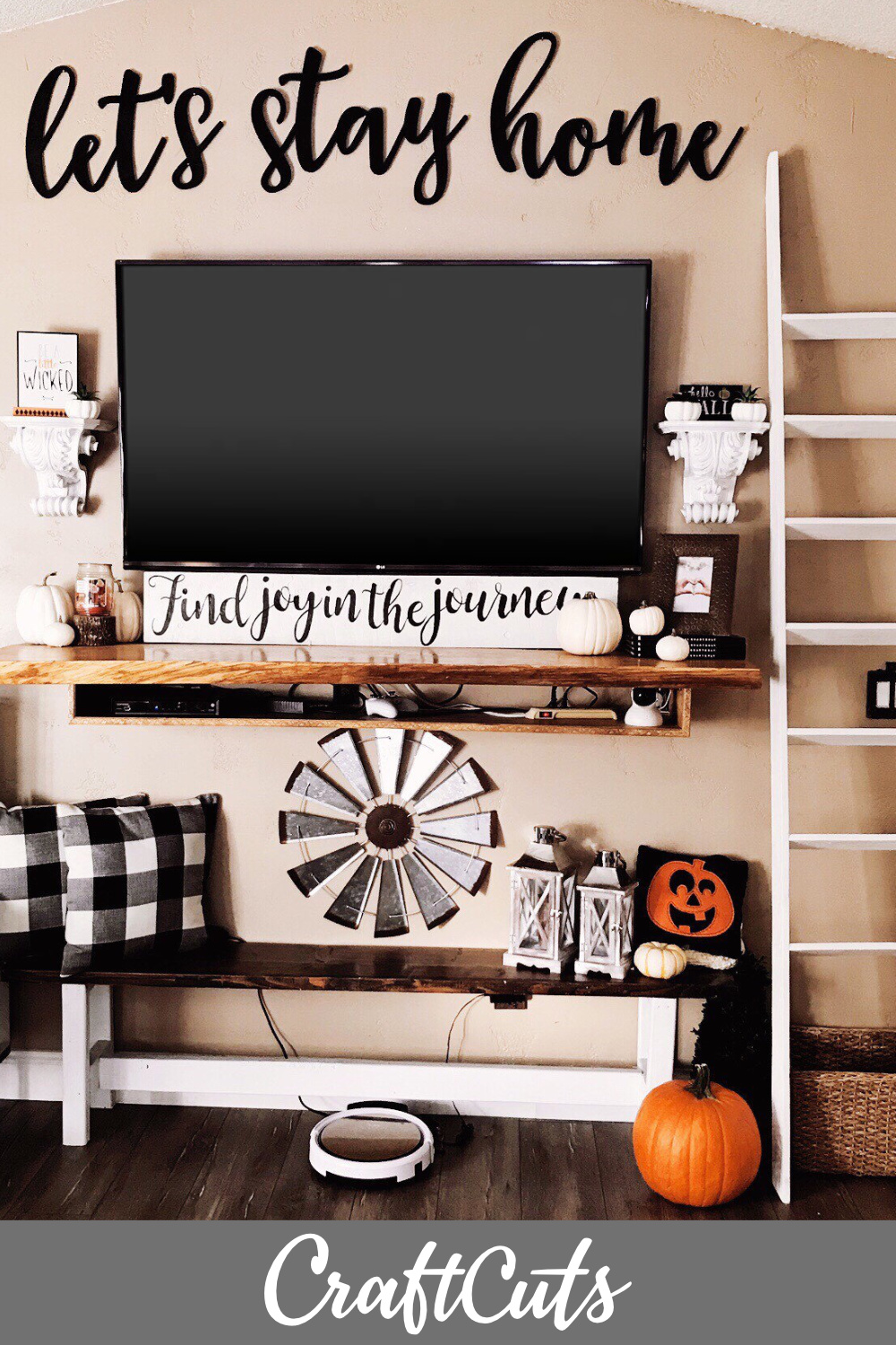 Let S Stay Home Wood Letters Diy Home Decor Craftcuts Com