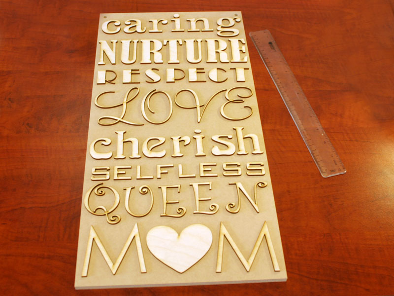 Create A Hanging Plaque For Mother S Day Step 1 Place The Letters Craftcuts