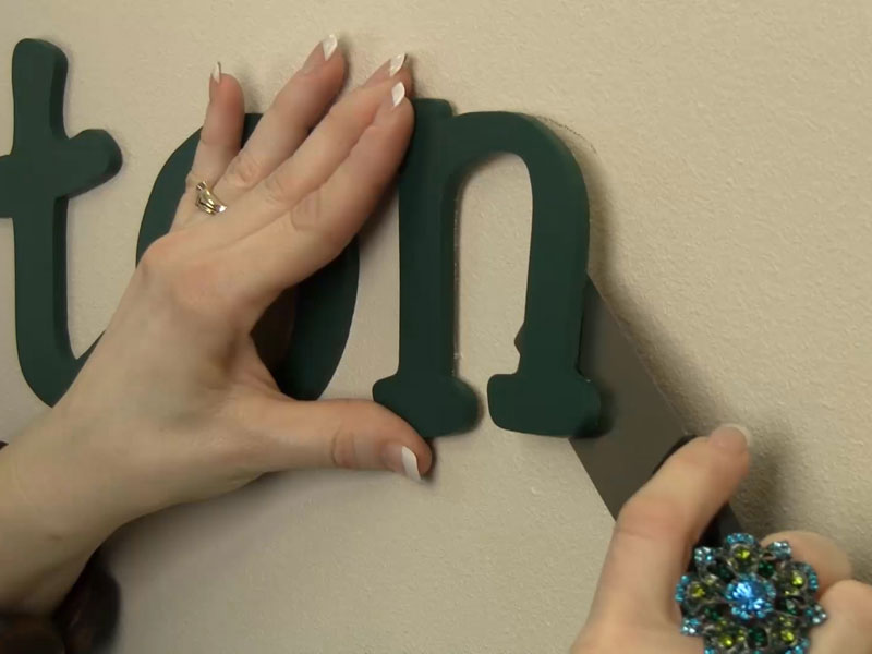 how to hang wood letters with spray adhesive | craftcuts