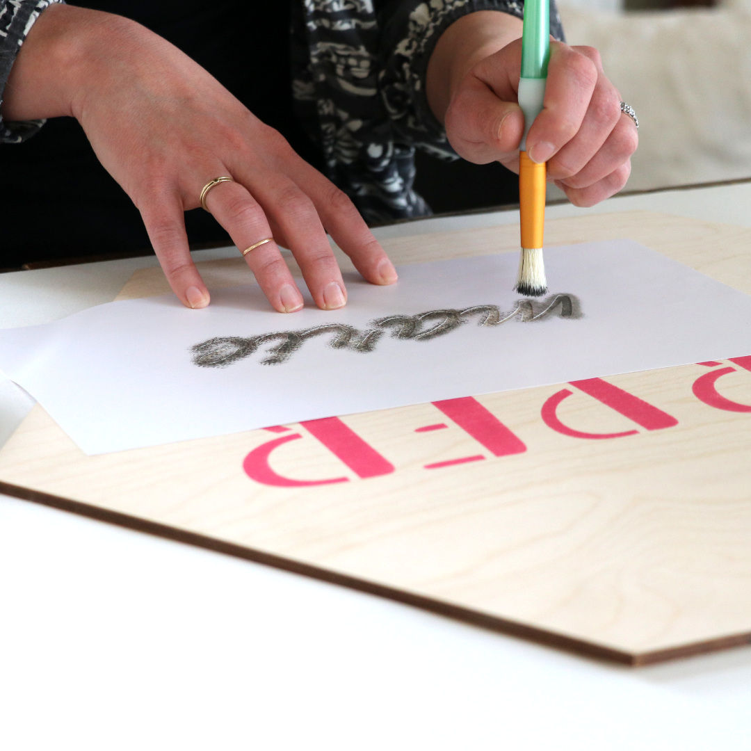 How to Paint a Reusable Stencil - Brush or Spray | Craftcuts com