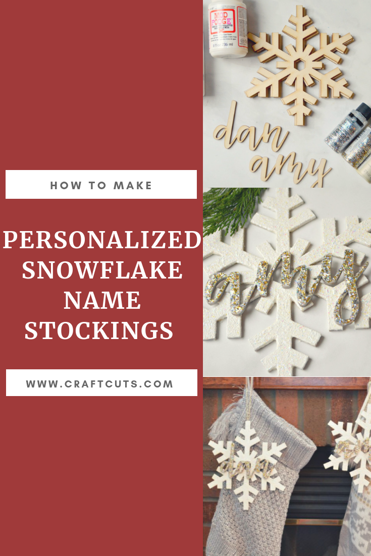 how to make personalized snowflake name stockings craftcuts com