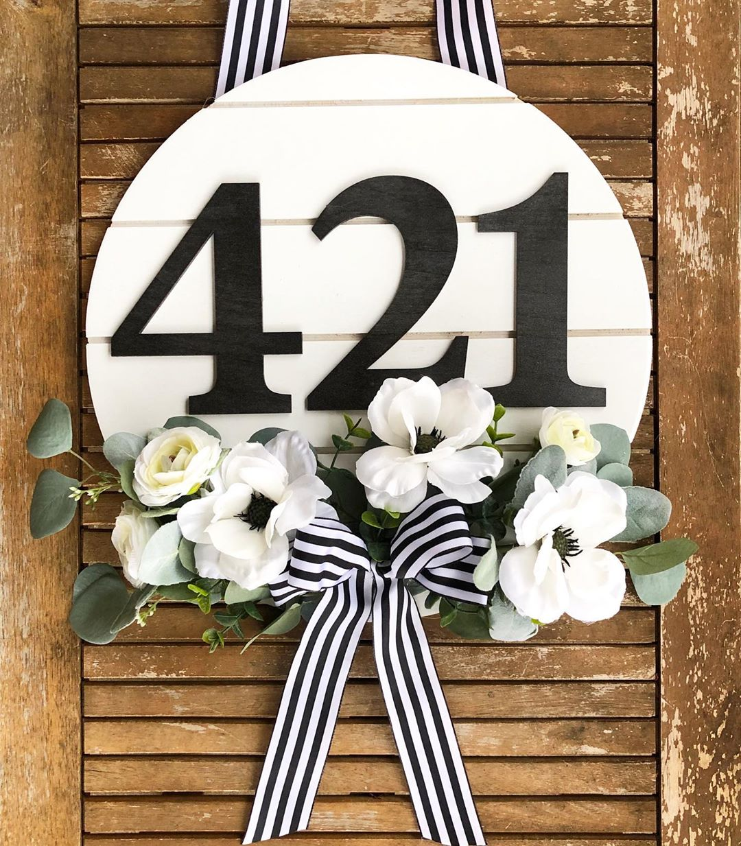 Rustic Decor Wreath for Front Door Year Round with Monogram Hi Hydrangea Wreath for Summer All Season Monogrammed Wreath for Front Door