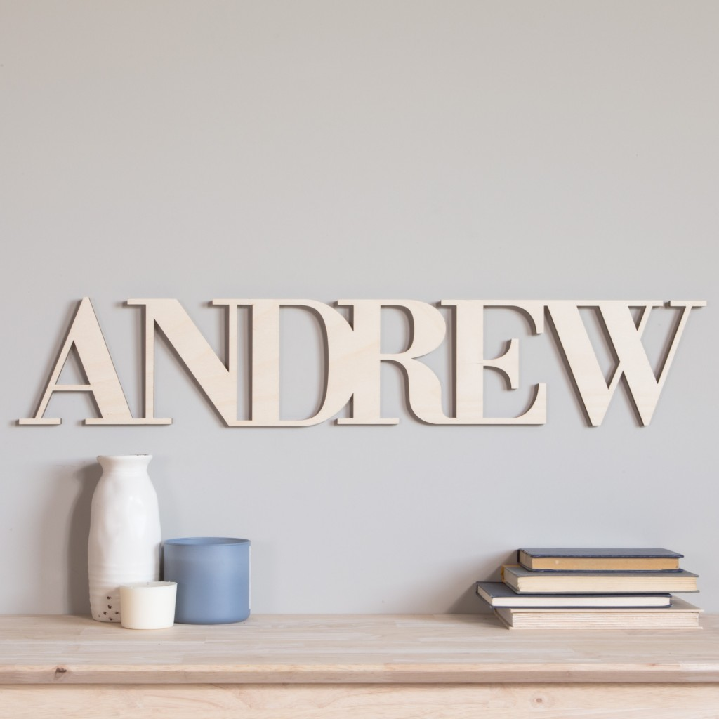 Connected Wood Letters Craftcuts