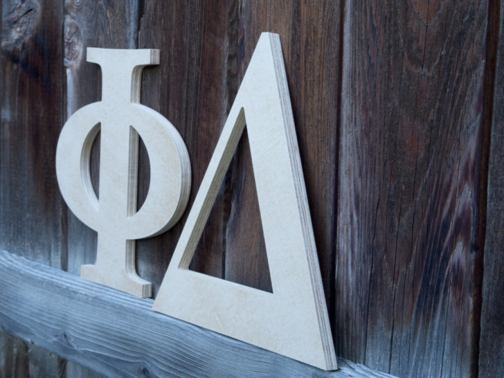Outdoor Greek Wood Letters Craftcuts