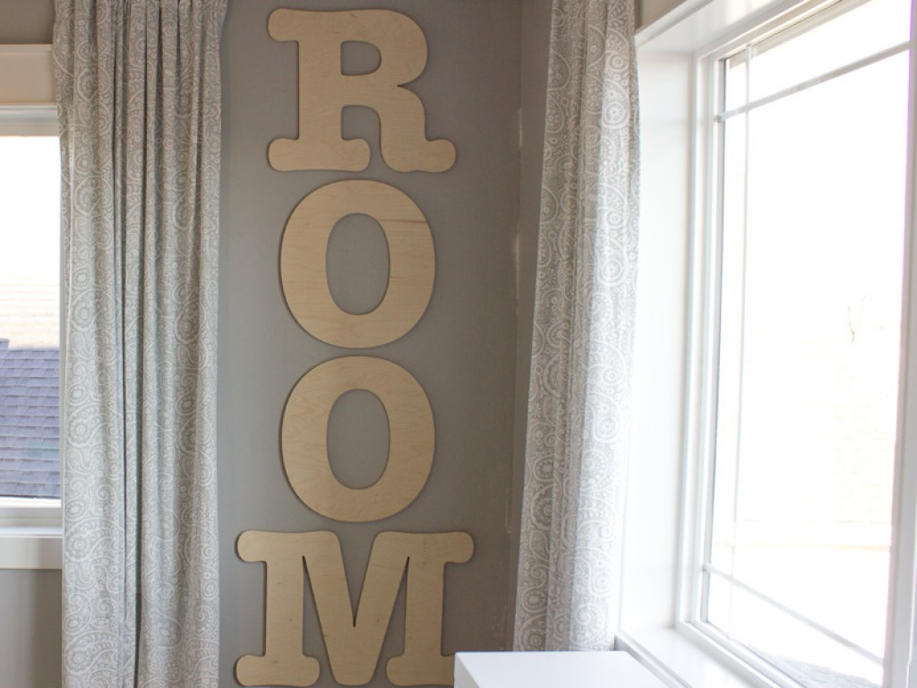 Large Wood Letters In A Playroom Craftcuts