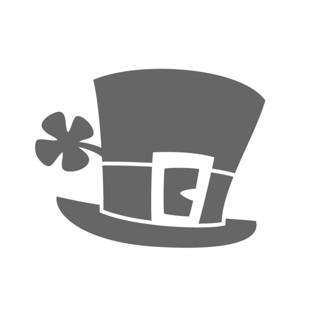 d1c4fa231a5 Leprechaun Hat Clover Stencil