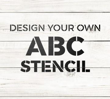 Letter Stencils   Custom Letter Stencils | Craftcuts.com