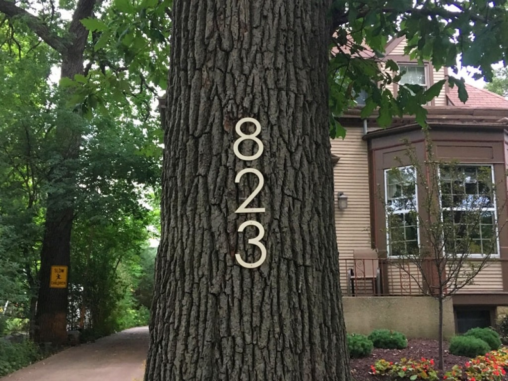 Wood house numbers outdoor wooden numbers