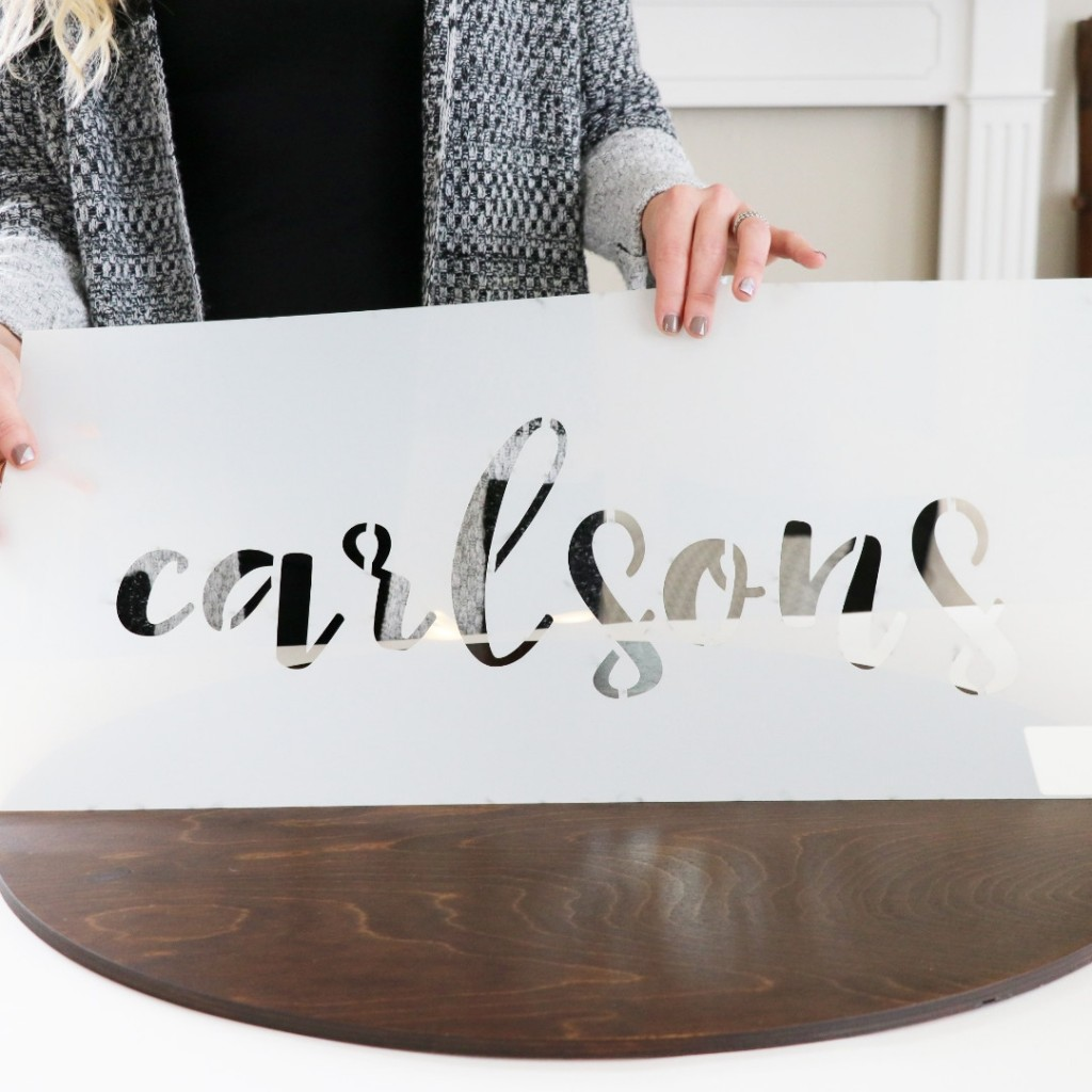 Custom Stencils for Wood Signs | Craftcuts.com