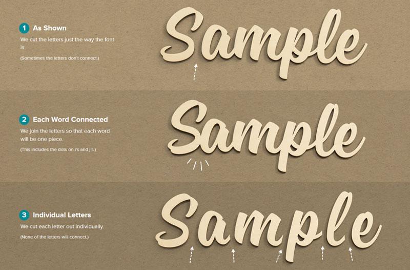 Script Wood Letters - Cursive Wood Letters | Craftcuts com